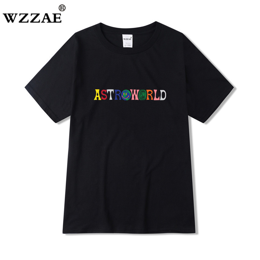 Travis Scott AstroWorld Tour T-shirt Men Women 1:1 Travis Scott T Shirts Top Tees Streetwear Hip Hop Kanye ASTROWORLD Tshirt