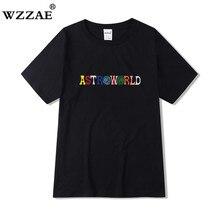 Travis Scott AstroWorld Tour T-shirt men women 1:1 Travis Scott T Shirts Top Tees streetwear Hip Hop
