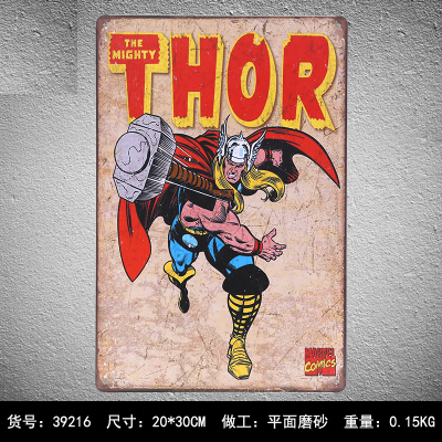 Decorative Metal Plate THE MIGHTY THOR Vintage Tin Signs Retro Metal Plate Painting Wall Decoration Metal & Decorative Metal Plate THE MIGHTY THOR Vintage Tin Signs Retro Metal ...