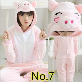 76b5d8eefe Animal Kigurumi Onesie adultos hombres mujeres Rosa cerdo ropa de dormir  pijama suave de lujo Anime Unicornio Pijima en general ropa de una pieza