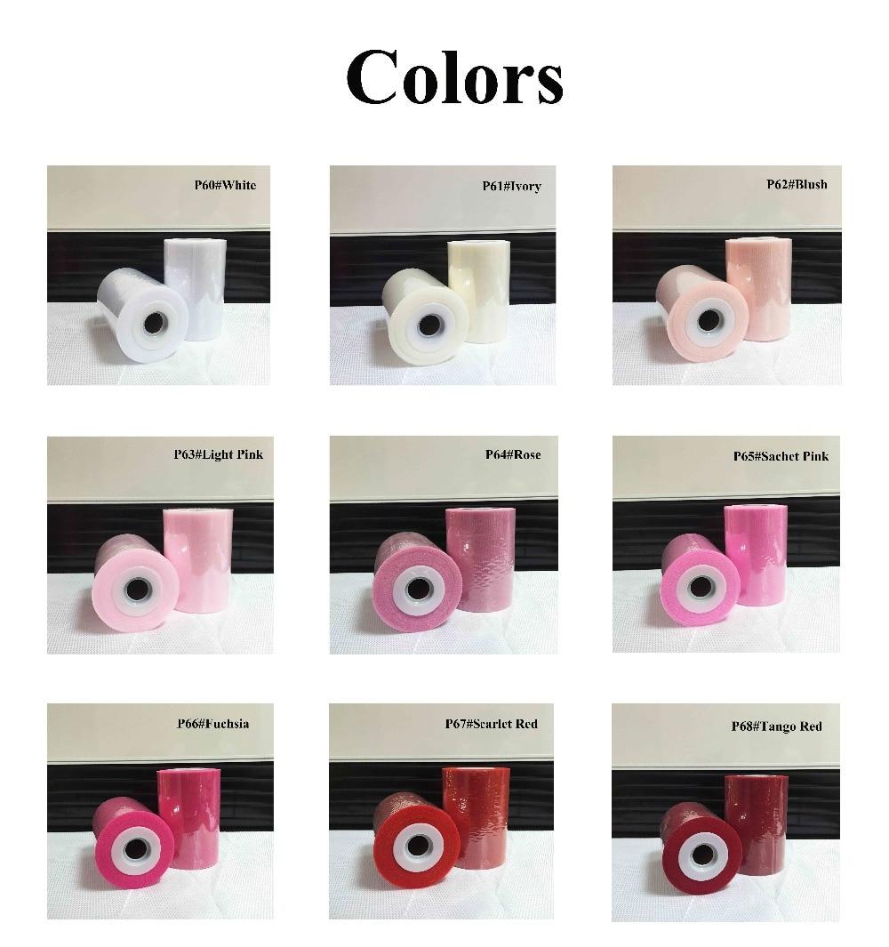 26 видів кольору доступні поліестер Туту рулон 6 дюймів 100 ярдів з високою якістю