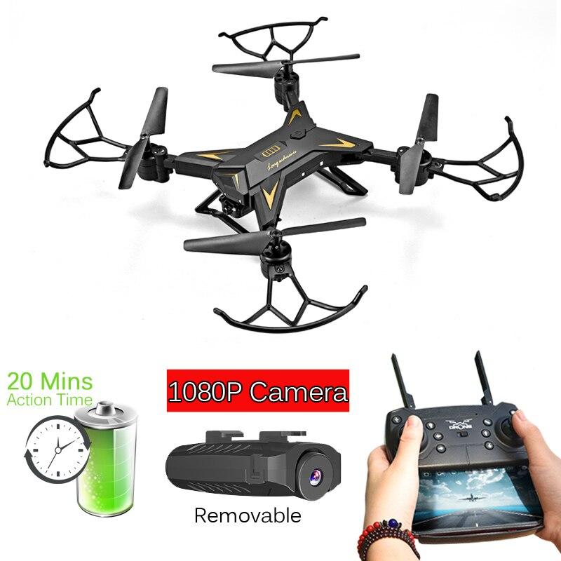 T-Rex RC Hélicoptère Drone avec Caméra HD 1080 p WIFI FPV Selfie Drone Professionnel Pliable Quadcopter 20 Minutes vie de La batterie