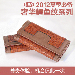 2012 new arrival autumn and winter new arrival genuine leather long design women's cowhide coin purse card holder day clutch