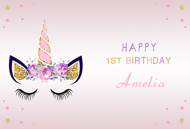 20420aa5145fa Backdrop Unicorn Birthday Party Photography Baby Shower Newborn Photo  Background Rainbow Flower Love Backdrop W658