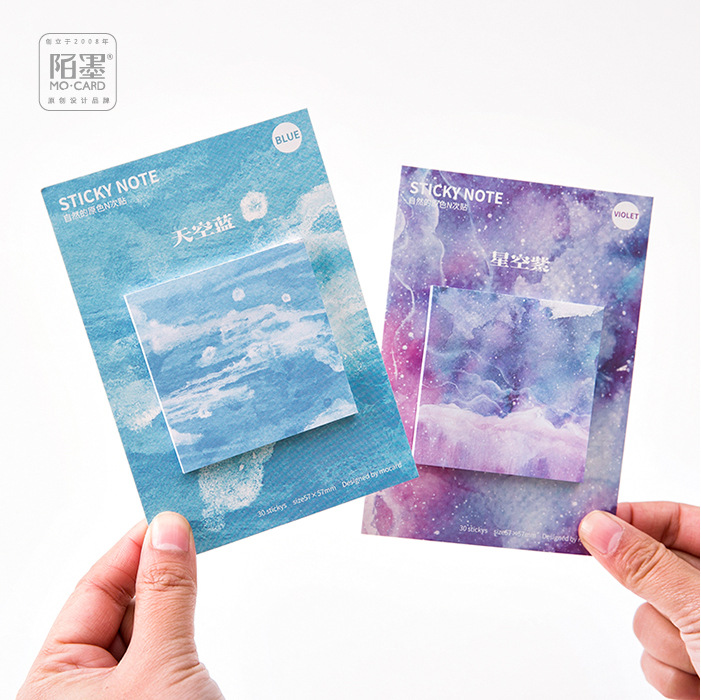 30 Sheets Natural Color Watercolor and Geometry Sakura Note Pad Bookmarks DIY Stickers Post it Memo Pad Sticky Notes ...