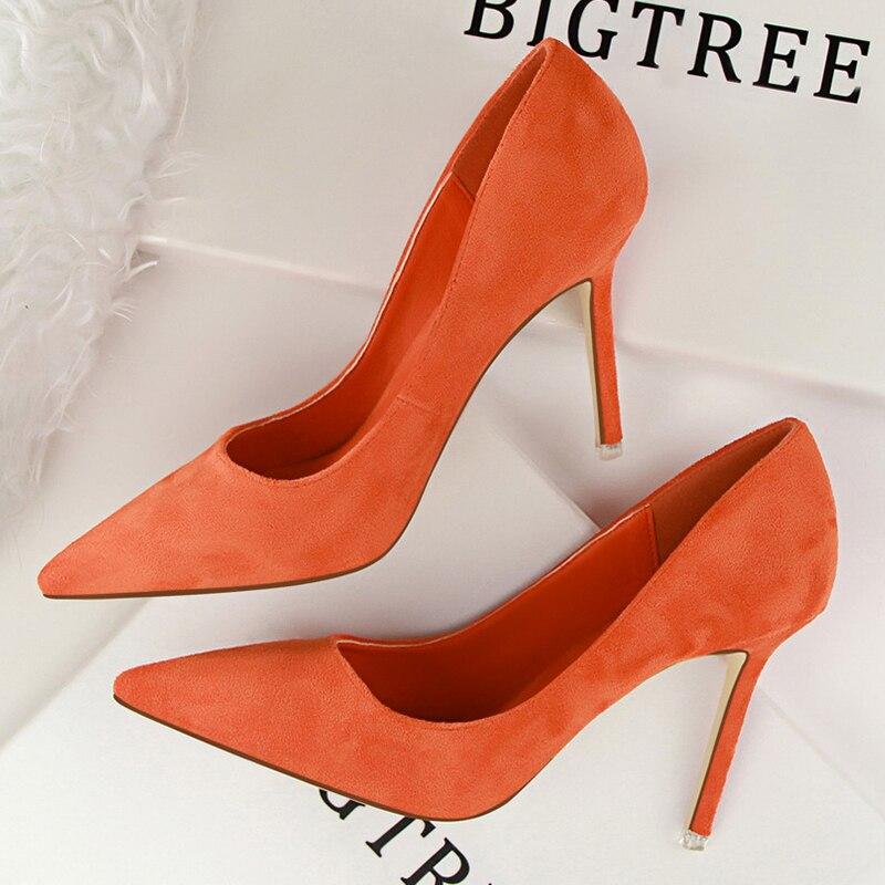 De las mujeres de moda 9 cm tacones altos para las mujeres zapatos Casual mujer tacones Chaussures Femme Stiletto mujer 516 -1