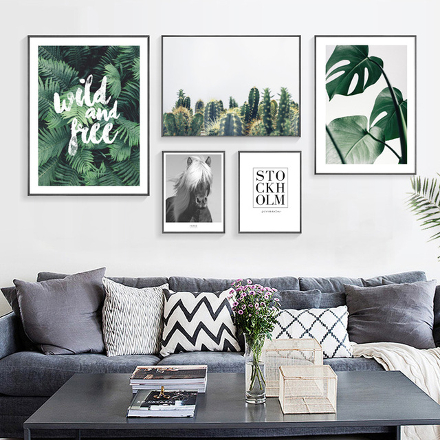 5pcs/set Nordic Wilde and Free Landscape Art Cloth Posters Home ...