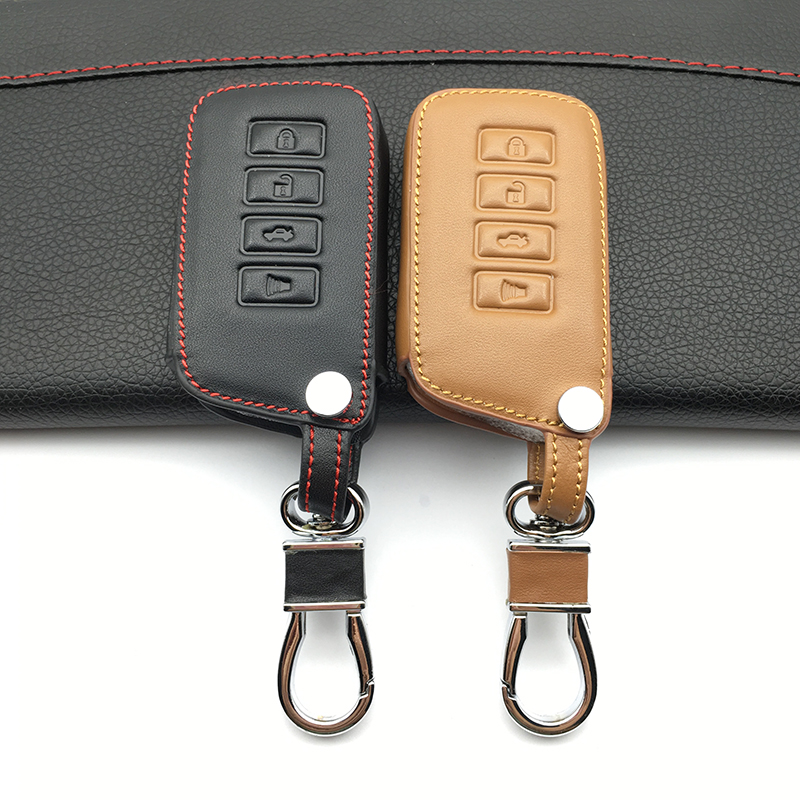 100% leather car key case key cover for <font><b>Lexus</b></font> NX 200 NX300H <font><b>RX</b></font> <font><b>350</b></font> 450 H ES <font><b>350</b></font> GS IS LS GS RC <font><b>2014</b></font> 2015 2016 keys protect shell image