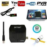 [Brazil] Ultra Mini Skysat V9 Plus Full HD Digital Satellite Receiver DVB S2 MPEG 4 TV Tuner WiFi IKS CS Youtube Cline Youtube