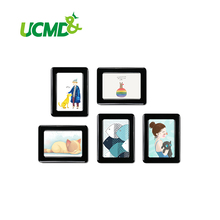 5 pieces / pack 6 x 4 inch  decorative colorful soft magnet picture frames fridge photo frame success style polyresin photo frame 4 x 6 picture
