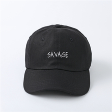 100 Cotton Embroidery SAVAGE font b Hats b font 2017 Exclusive Dad font b Hat b