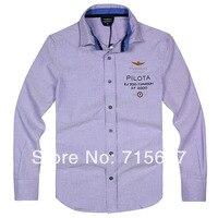 AERONAUTICA MILITARE Shirts Male Shirt In Oxfords Luxury Brand Polo Shirt 5 Colors S M L