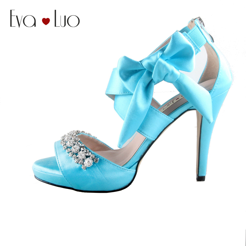 2015 Mujer Fiesta Zapatos 1 Turquesa tacones Azul Turquesa IDE9WH2
