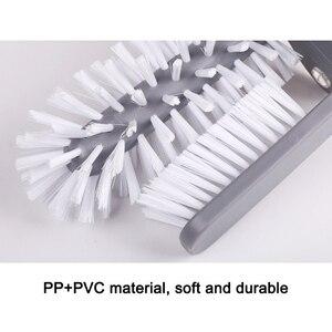 Image 2 - Glas Waschmaschine Waschbecken Saugnapf Basis Reinigung Flasche Glas Bad Pinsel Werkzeug HYD88