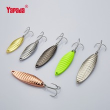 YAPADA Spoon 008 Vermin 5g/7g/10g/15g Treble HOOK 37mm/40mm/50mm/60mm Multicolor Metal Fishing Lures