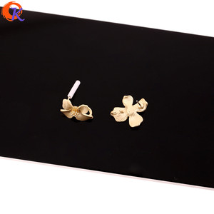 Image 4 - Cordial Design 100Pcs 18*20MM Jewelry Accessories/Earring Stud/Matte Gold/Flower Shape/DIY Making/Hand Made/Earring Findings