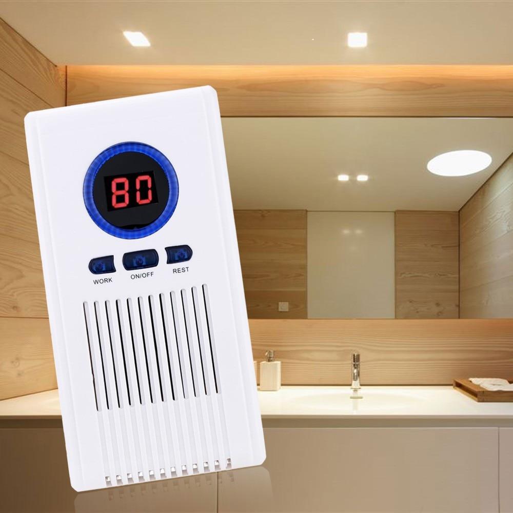 O3 Purificador De Ar Gerador de Ozônio Máquina Purificador de Ar para Casa de Banho Wc Desinfetante Sapato Racks com Display LED Função de Temporização