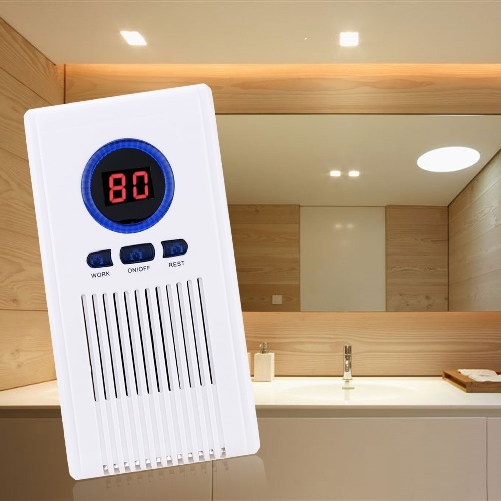 O3 Air Purifier Ozone Generator Toilet Disinfectant Machine Air Cleaner For Bathroom Shoe Racks With LED Display Timing Function