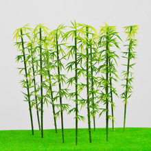 ARCHITECTURAL MODEL MAKING Miniature scale model bamboo 10cm green for trains layout