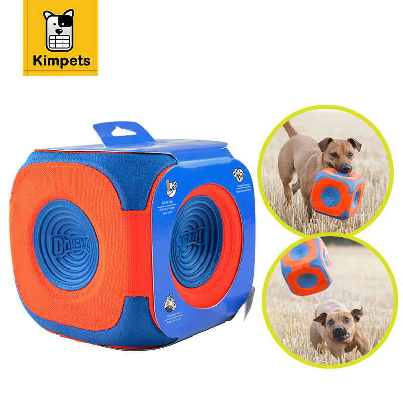 DOBOLA Dog Toy Square Ball Toy With Eco friendly Rubber