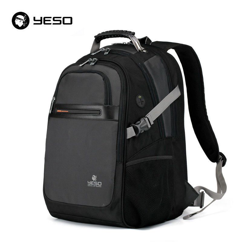 Yeso Black Laptop Backpack Men Waterpoorf 15.6 Inch Notebook Backpack For Women New Fashion Large Capacity Backpack Mochila