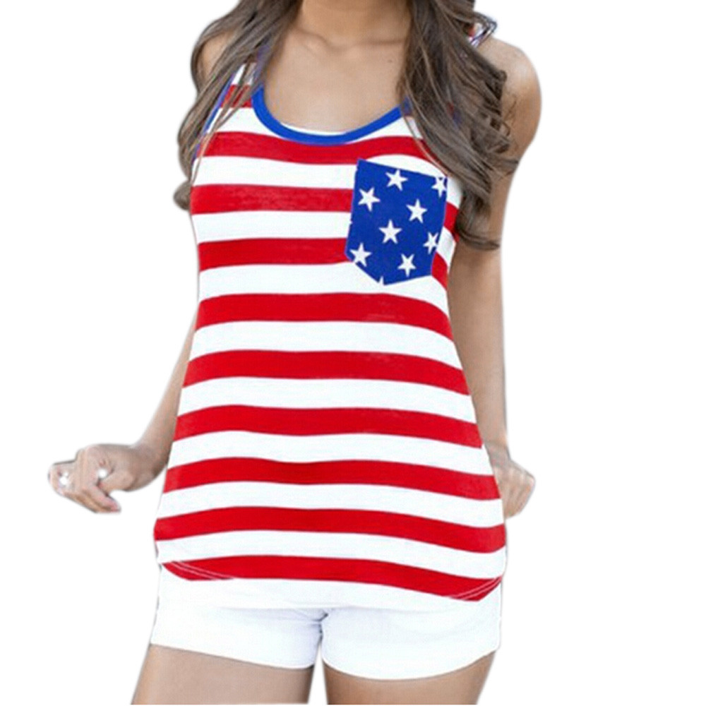 113564b2e08 Tank Flag Patriotic Print Sleeveless Shirt women Camisetas mujer Blusas  femininas Plus size Robe fillette-in Tank Tops from Women s Clothing on ...
