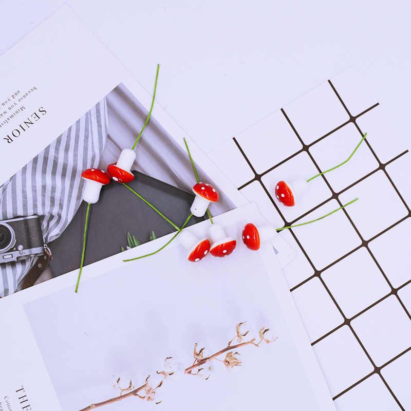 10 قطعة/الوحدة الاصطناعي جميل الفطر عيد الميلاد زينة للمنزل وهمية النباتات diy الطوق قبعة أضاليا المنتجات المنزلية