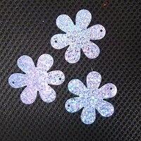 wholesale 50mm flower sequins for craft and decoration, hologram purple