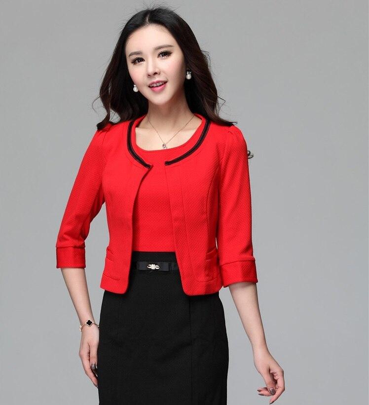 Nueva primavera verano 2015 Red moda para mujer Blazer