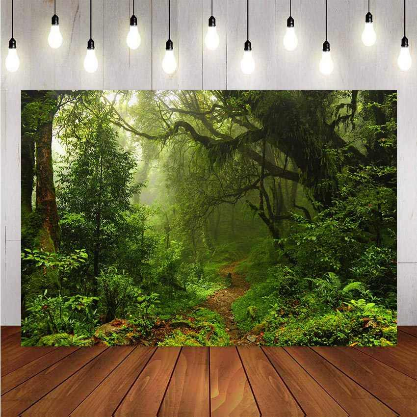 8X10FT-Forest Red Leaves Tree Photography Backdrops Grass Decoration Sence Photo Studio Background