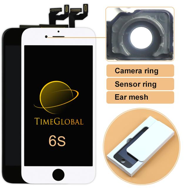 1 pcs peças bom trabalho 4.7 ''replacement parte lcds do telefone móvel para o iphone 6 s lcd screen display + toque digitador + suporte da câmera