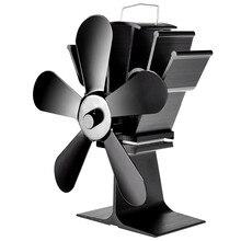 5 лопастной печной вентилятор теплового камина с фанерным питанием от жары бревенчатая горелка дружественный тихий вентилятор для дома эффективное распределение тепла