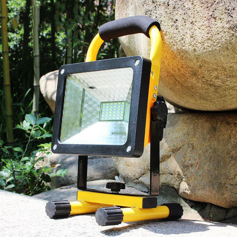 ФОТО powerful LED Floodlight Red Blue Emergency flashlight Cordless Flood Light Portable Working Light Lamp Weather Resistant