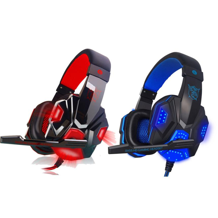HIPERDEAL Factory Price Hot Selling Surround Stereo Gaming Headset Headband Headphone USB 3.5mm LED with Mic for PC