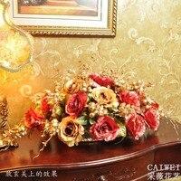 Große Nereus mode goldenen perlen rose künstliche blume gesetzt esstisch entranceway dekoration blume