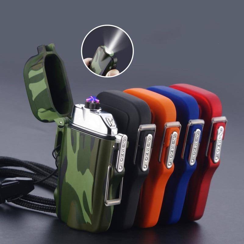 Новая уличная USB Зажигалка Водонепроницаемая перезаряжаемая камуфляжная плазменная зажигалка для кемпинга Спортивная Зажигалка для курен...