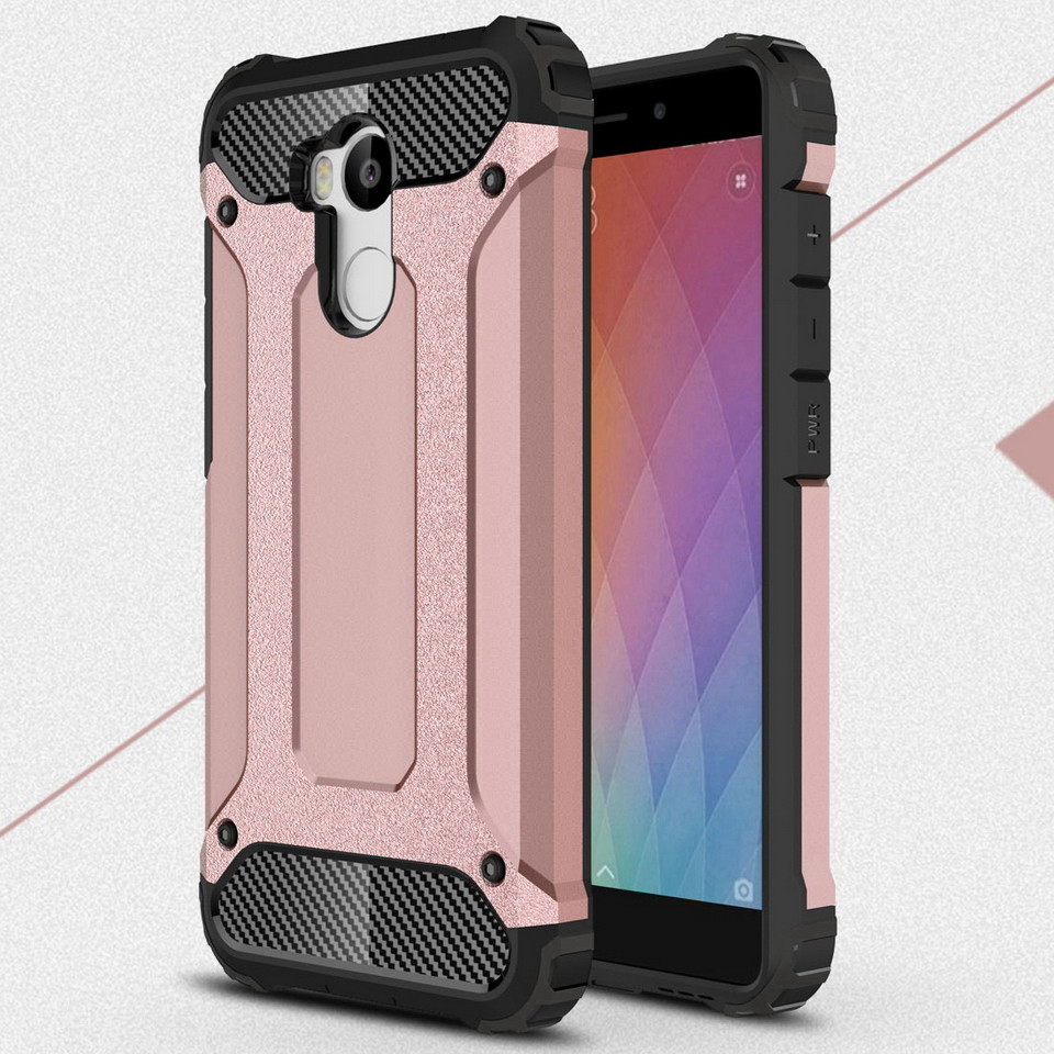 cheap for discount 1e695 dfbe6 Details about New Luxury Hard Armor Shockproof Silicone Cover Case For  Xiaomi Redmi 4 Pro 3s 3