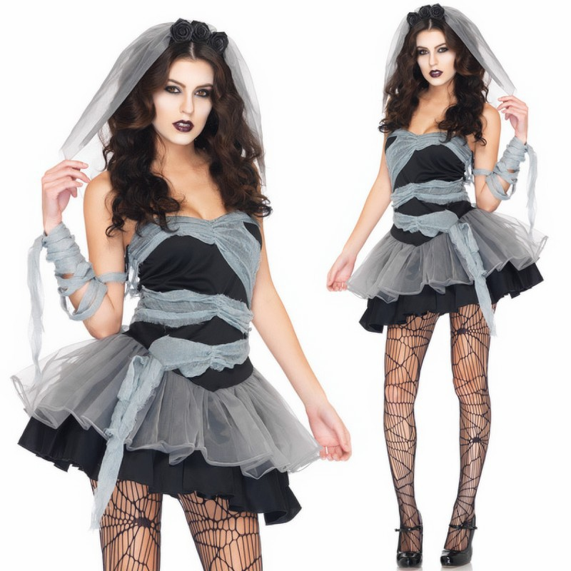 837677b16f4 NEW Women Halloween female zombies Costumes Vampire ghost bride Sexy  Cosplay Cinderella fairy tale Costume Halloween Dress-in Holidays Costumes  from ...