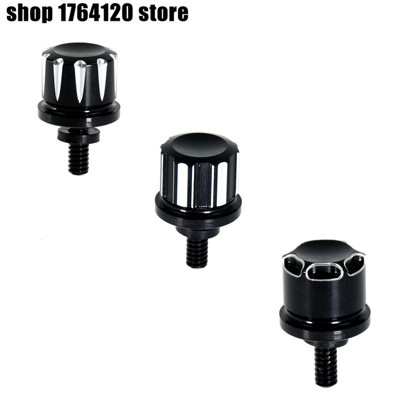 Motorcycle Black Seat Bolt Tab Screw For Harley Dyna Street Glide Road Glide Ultra Glide With 1/4-20 Thread Sportster 1996-2015