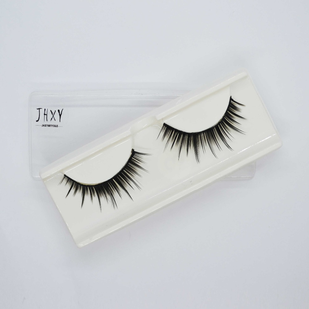 Manooby 1 Pair Extension Eyelash For Makeup Fake Eyelashes 100% Handmade Eye Lashes 3d Real Mink Makeup Thick False Eyelashes With The Best Service Beauty & Health
