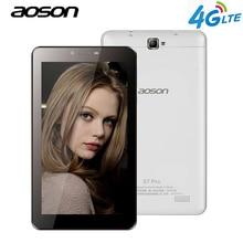 Бренд AOSON S7 Pro 7 дюймов 4 г LTE-FDD Phablet 1 ГБ 8 ГБ HD IPS Android 6.0 телефонный звонок планшетный ПК Dual Cam Wi-Fi Bluetooth 7 8 10 10.1
