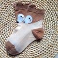 Primavera e no verão nova chegada tridimensional fox malha crianças meias de algodão meias de algodão feito à mão do bebê