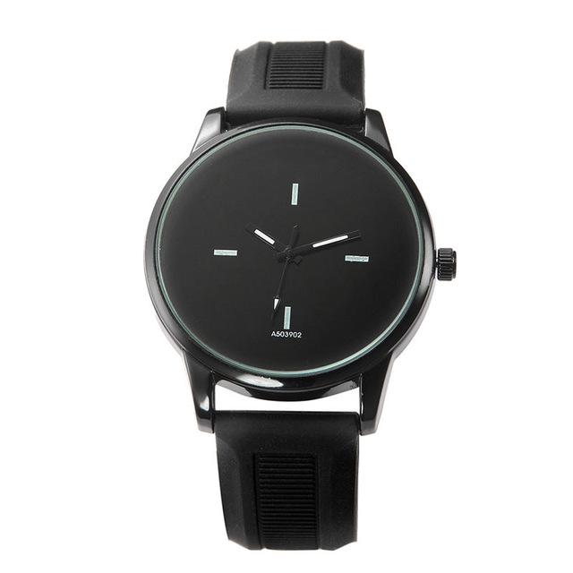 Simple Big Dial Couple Men Women Watch Delicate Lover's Quartz Casual Wristwatch LXH