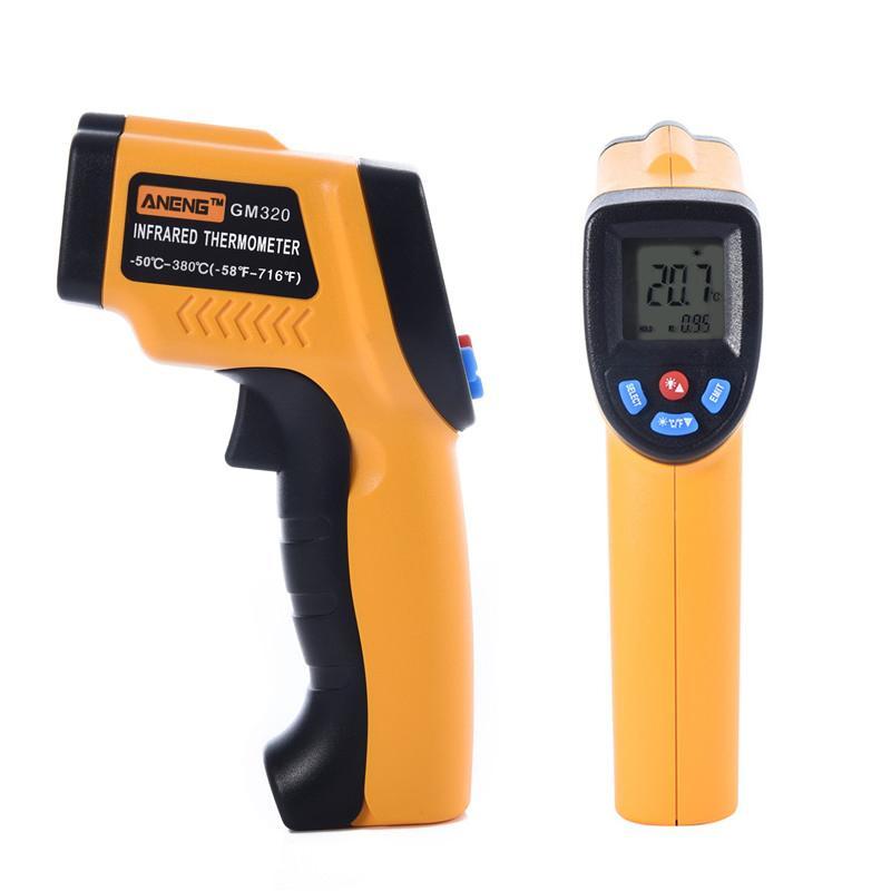 GM320 LCD Digitale Termometro A Infrarossi Laser Gun Senza contatto 12:1 Temperatura Dello Strumento LCD Pirometro