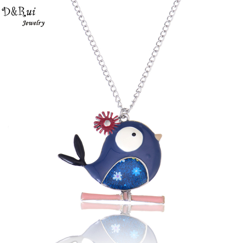 Link Rantai Kalung Colorful Bird Pendant 2019 Gaya Baru Trendy - Perhiasan fashion
