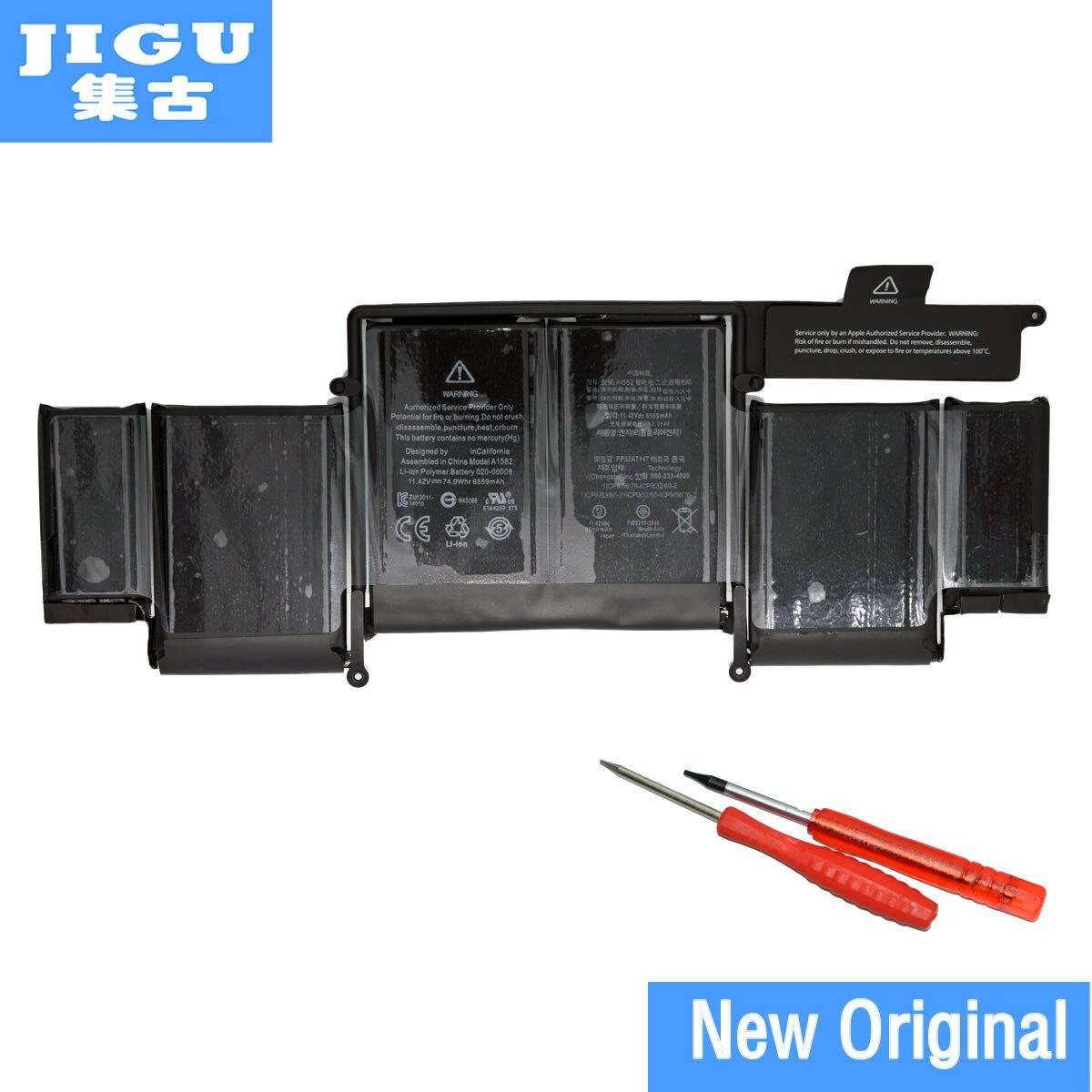 Jigu Фирменная новинка оригинальный Батарея A1582 для Apple MacBook Pro Retina 13 дюймов A1502 2015 год