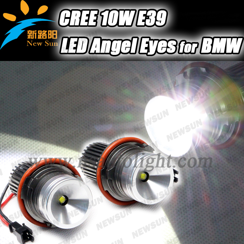 Free shipping 10W CREE chip Auto LED Marker Angel Eyes For BMW E39 E53 X5 E60 E61 E63 E64 E65 E66 E87 led angel eyes for bmw e60 1 pair free shipping high power cree angel eyes led maker lamp fit for bmw e39 e53 e60 e61 e63 e64 e66