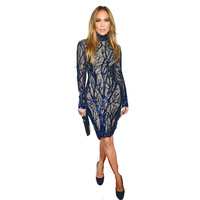 Women Long Sleeve Sequin Patchwork Sexy Fashion Celebrity High Quality Runway 2018 Sheath Bodycon Casual Party