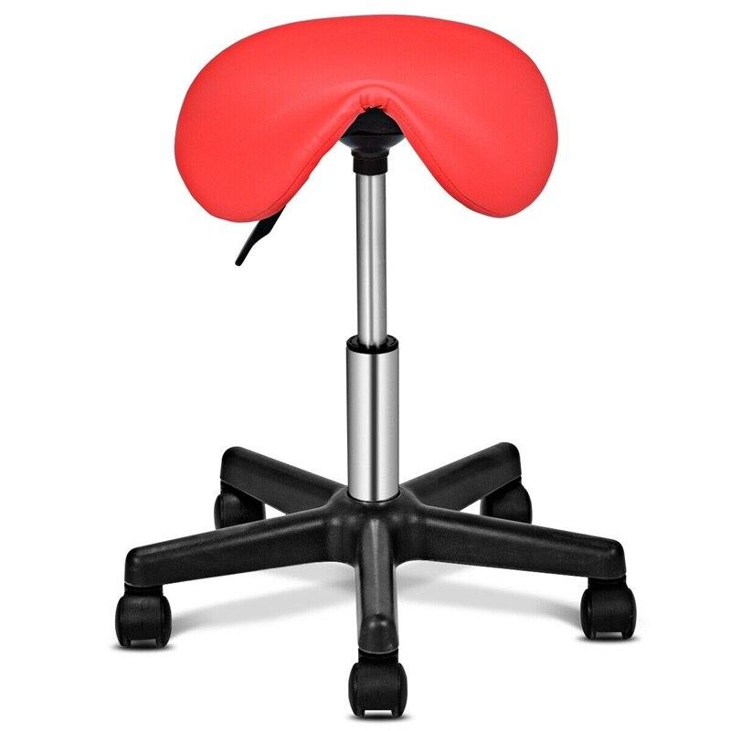 High Quality Adjustable Salon Massage Hydraulic Rolling Saddle Stool Modern Saddle Seat Design Premium PU Seat Bar Stool HW55488