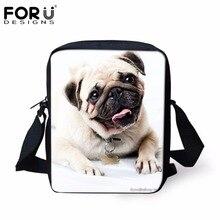 FORUDESIGNS School Bags for Baby Girls Cute Animal Bulldog Pug Dog Pattern Children School Bags Small